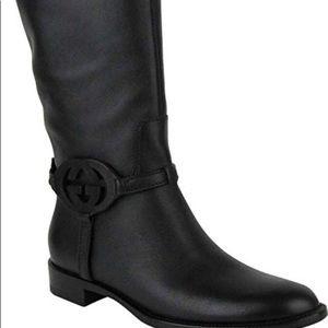 BNIB Gucci Sadle Soft Nero GG Boots